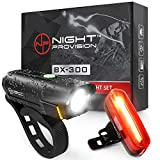 Powerful BX-300 Rechargeable LED Bike Light Set Front Back Cycling Safety Lights Best USB Headlight Tail Light Adults Kids Men Women front bicycle light Oct, 2020