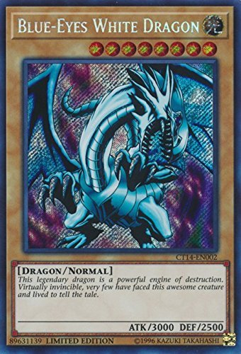 Blue-Eyes White Dragon - CT14-EN002 - Secret Rare - Limited Edition - 2017 Mega-Tins Promos (Limited Edition)