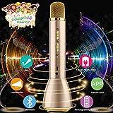 Drahtloses Mikrofon Kinder,Bluetooth Mikrofon Karaoke Kabellos,Karaoke Mikrofon Wireless Microphone,Bluetooth Karaoke Mic Tragbares Mikrofon Mit Lautsprecher für Musik Singen Phone Pad Android IOS -