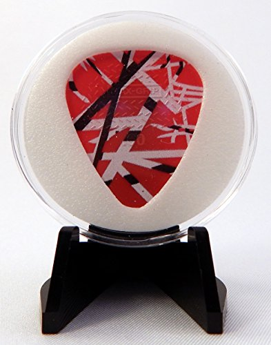 EVH Eddie Van Halen Frankenstein Guitar Pick With MADE IN USA Display Case & Easel