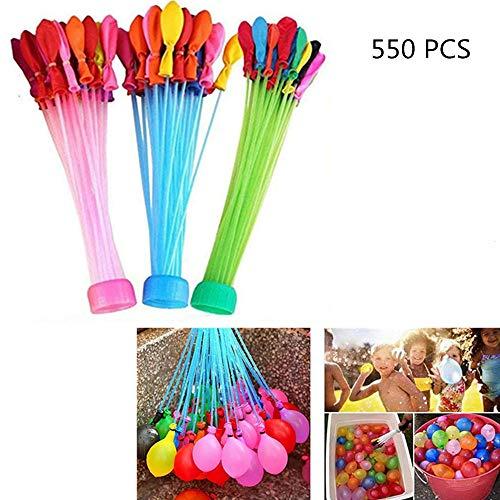 550 stks waterballonnen, draagbare vulling handmatige waterinflatie bal speelgoed, zomer splash leuk watergevecht spel voor volwassenen en kinderen