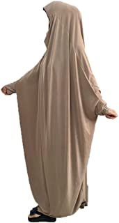 Women's One-piece Prayer Dress Muslim Abaya Dress Islamic Maxi Abaya Kaftan with Hijab