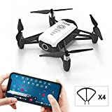 Rolytoy Drone with Camera Live Video and Return Home Function for Adults Kids Quadcopter Foldable Mini Drones with 1080p 4K Camera Easy Selfie Long Flight Time RC Flying Drones for Beginners (White)