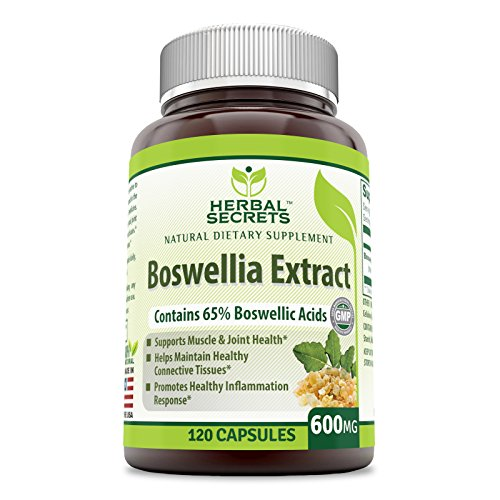 Herbal Secrets Boswellia Serrata Extract (65% Boswellic Acids) 600 mg 120 Capsules (Non-GMO) - Non Synthetic- Supports Muscle & Joint Health, Promotes Healthy Inflammation Response*