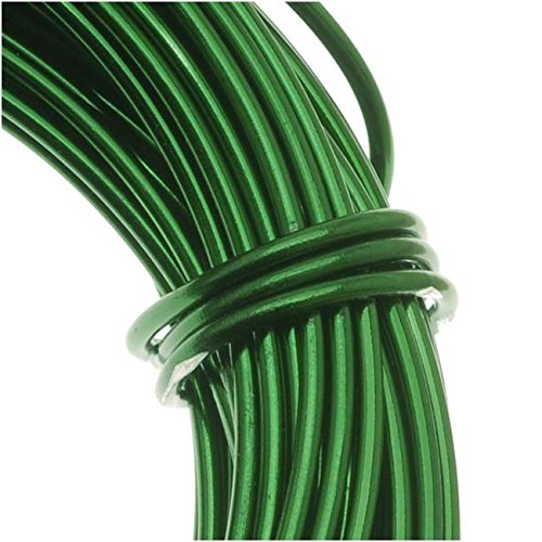 The Beadsmith 12-Gauge Anodized Aluminum Wire for Jewelry Making, Metal Wire for Wrapping (Green)