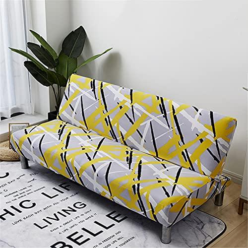 XJHKG Funda De Sofá Sin Brazos, 3 Plazas Plegable Elástica Cubierta Funda para Cubre Sofá Cama Clic Clac Protector para Futón Couch Bench (A-07,L(190-230cm))
