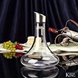 Crystalline King crystal wine decanter with aerator