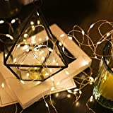 LED luz de cielo estrellado cuento de hadas LED alambre de cobre transparente para fiesta día de navidad cadena de luz A2 2m20 leds batería