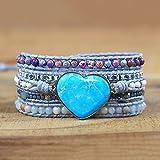 bracciale in pelle multistrato con cinturino in pelle naturale con cinturino in perline in perline in perline bracciale bracciale boho perline gioielli novità gioielli regali di natale speciali