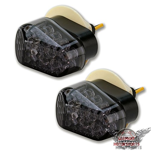 LED Motorrad Mini Micro Blinker Verkleidungsblinker Yamaha R1 R6 FZ1 FZ6 XJ6 R125 schwarz getönt Miniblinker 1 Paar