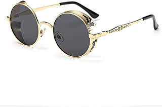 1776373025 LHWY Femmes Hommes été Vintage Retro Lunettes de Soleil Ronde Lunettes de Soleil  Lunettes aviateur Miroir