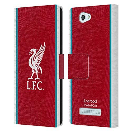 Head Hülle Designs Offizielle Liverpool Football Club Home 2020/21 PU Leder Brieftaschen Huelle kompatibel mit Wileyfox Spark/Plus