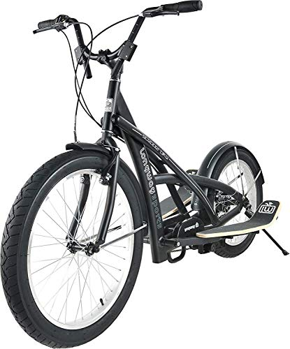 TE-Sports Fitness Wipprad Wipp Scooter Stepperbike Crosstrainer Fahrrad Bike 7-Gang Shimano Grip Shift Schaltung Schwarz