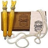 AGREATLIFE 250cm Springschnur Kinder *Leicht Verstellbar* - Handverzierte Häßchen - Springseil für Kinder - Schenken Sie EIN Stück Kindheit -