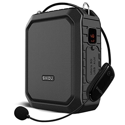 Bluetooth Voice Amplifier Microphone Speaker Waterproof, Wireless Microphone Headset Amplifier Portable Megaphone Loudspeaker Pa System Amp 18W Output for Outdoor,Teachers,Classroom,Elderly,Speech Etc