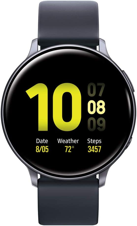 Samsung Galaxy Watch Active2 W/ Enhanced Sleep Tracking Analysis, Auto Workout Tracking, and Pace Coaching (40mm), Aqua Black - US Version with Warranty