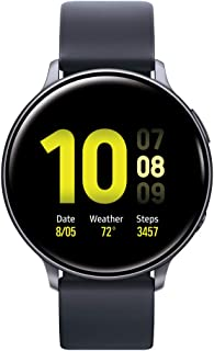 Samsung Galaxy Watch Active 2 (40mm, GPS, Bluetooth) Smart Watch with Advanced Health monitoring, Fitness Tracking , and Long lasting Battery - Aqua Black  (US Version)