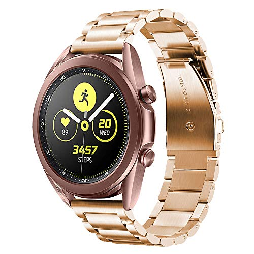 V-MORO Kompatibel für Samsung Galaxy Watch 42mm Armband/Galaxy Watch 3 41mm Armband/Galaxy Active 2 Armband 40mm 44mm Armband,uhrenarmband 20 mm für Gear Sport/Withings Steel hr 40mm Rose Gold