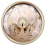NFRADFM Barómetro termómetro higrómetro, estación meteorológica doméstica montada en la pared, barómetro 3 en 1, barómetro de medición al aire libre