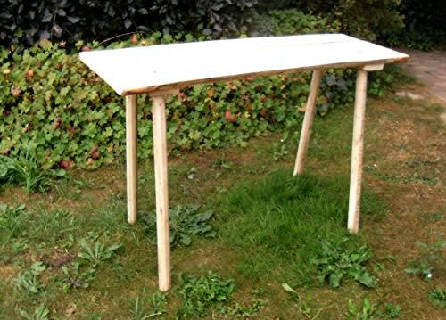Mittelalterlicher Steck- Tisch, Flächen aus Eichenholz 25-30 mm mit 8-kantigen Beinen, je 115 cm lang für Larp, Reenactor, Tavernenbestuhlung