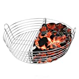 Mydracas Ash Basket Stainless Steel Charcoal Basket for XLarge Big Green Egg(with Divider)