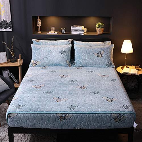 N / A Ultra Soft Elastic deep pockets sheets,Cartoon printed plush mattress protector, Winter autumn warm fitting sheets for boys girls bedrooms-6_180cm*200cm