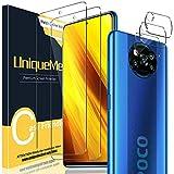 UniqueMe [2+3 Pack] Protector de Pantalla Compatible con Xiaomi Poco X3 NFC/Poco X3 Pro + Protector de Lente de Cámara para Xiaomi Poco X3 NFC, Vidrio Templado [9H Dureza] HD Film Cristal Templado