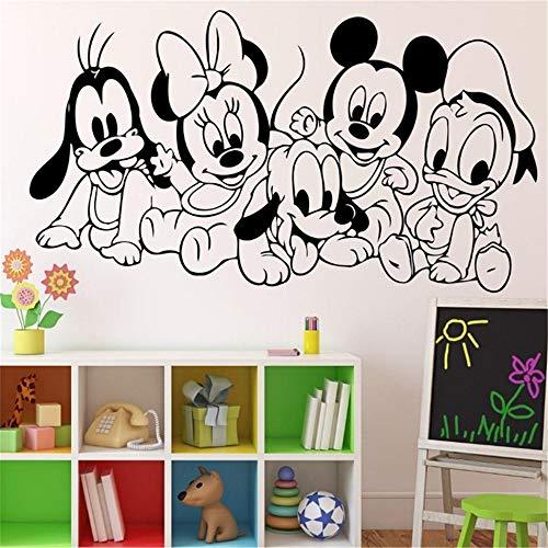 pegatinas decorativas pared Dibujos animados Bebé Mickey Mouse Pegatina Pared Habitación infantil para niños Habitación Ideas Habitación infantil