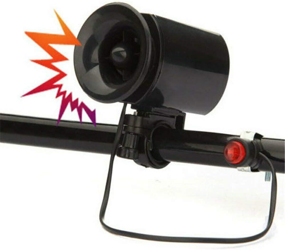 Gazelle Trading MTB 6-Sound Bike Bicycle Cylcing Loud Electronic Siren Horn Bell Ring Alarm Speaker