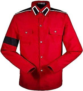 Michael Jackson Camisa para Hombre Michael Jackson Camisa para niños MJ Professional Cosplay Michael Jackson Camisa Estilo CTE para MJ Fans Camisa Blanca en Colores Rojos