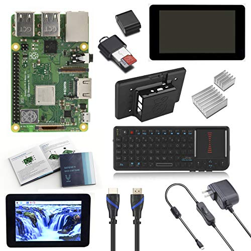 "6. Raspberry Pi 3 Model B+ (Plus) Complete Starter Kit with 7"" LCD Touchscreen Monitor, Mini Keyboard"