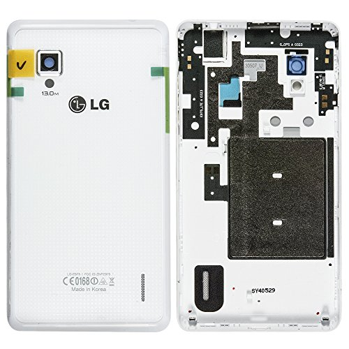 Original LG Akkudeckel weiß für LG E975 Optimus G - mit NFC-Antenne (Akkufachdeckel, Batterieabdeckung, Rückseite, Back-Cover) - EAA62946606