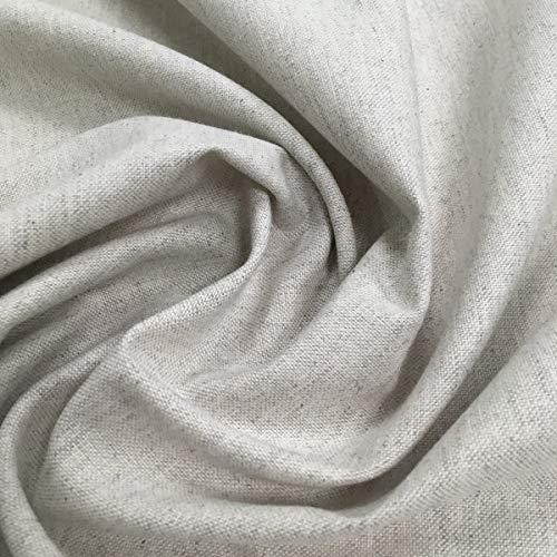 Tela por metros de loneta lisa - Half Panamá 100% algodón - Ancho 280 cm - Largo a elección de 50 en 50 cm | Gris perla