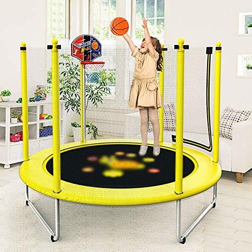 Trampoline voor kinderen Trampoline met springmat Antislip Waterdicht Duurzaam Indoor Outdoor Trampoline Maximale veiligheidsbelasting 300 kg Diameter 150 cm X H 120 cm Inclusief basketbalrekset (up