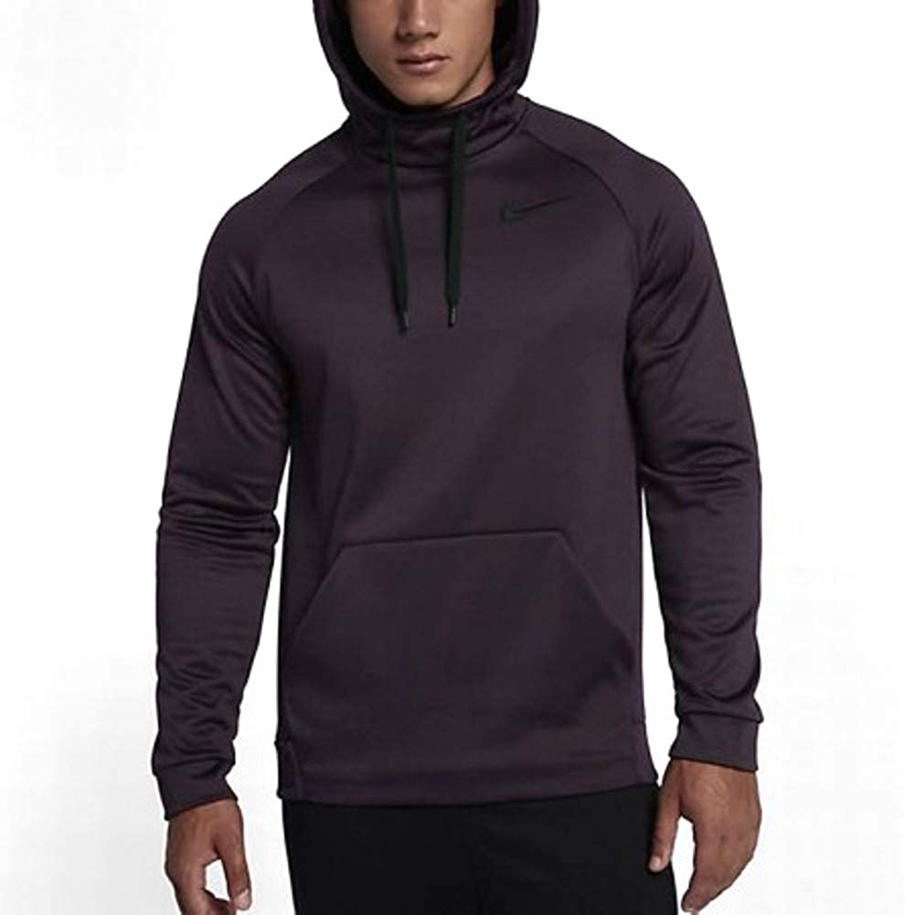 Nike Men's Therma Outlet SALE Training Hoodie 2021 new Wine Port Black 652 826671