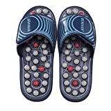 BYRIVER Reflexology Foot Massager Tools, Acupuncture Massage Slippers Shoes Sandals Mat Stress Relief Gifts for Men Women, Relieve Plantar Fasciitis Heel Arch Arthritis Neuropathy Pain (05M)
