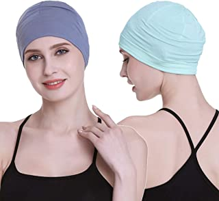 Bamboo Sleep Cap for Hair Loss Home Head Cover for Chemo Women