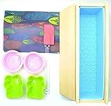 LaceDaisy Rechteckige Silikon Seife Form mit Holzbox und Holz Deckel, Silikon Spachtel, Silikon...