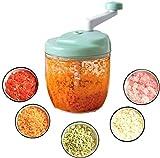 Chopper alimentos, vegetales Chopper Hogar multifuncional Manual de picar carne de la cocina a mano cocido Minced verduras carne picada Pimienta, B picadora manual cfbcc (Color : A)