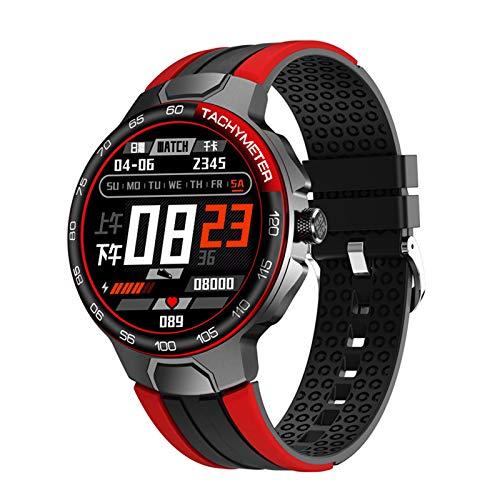para iOS Android Smart Watch Men's Cardy Rate Y Detección De La Presión Arterial IP68 Tiempo Impermeable Smartwatch Watch,C
