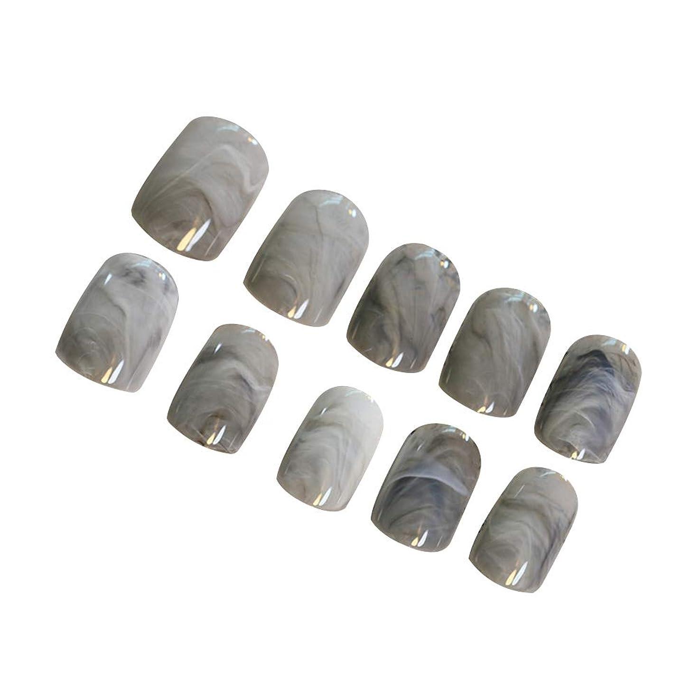 人質販売員シェアFrcolor ネイルシール ネイルステッカー DIYネイルアプリーク マーブル グレー 人気 24枚セット