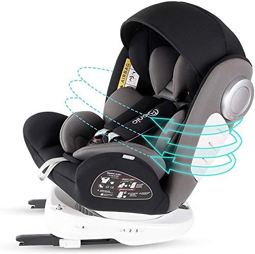 Bonio Baby Car Seat 360 Swivel ISOFIX Group 0+/1/2/3 (0-36 kg) with UPF50+...