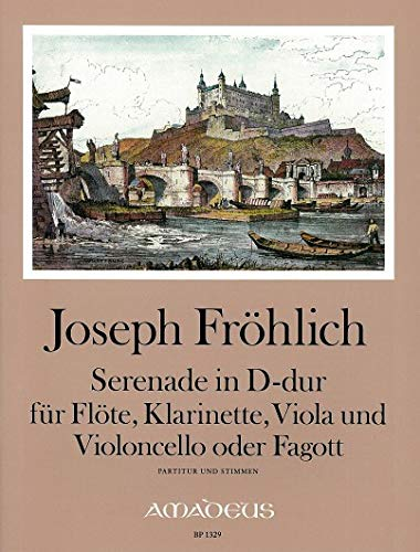 FRÖHLICH J. Serenade D-dur - Part.u.St. Flöte, Klarinette, Viola, Violoncello
