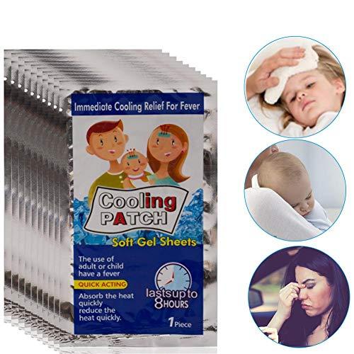10 STK Kühlpflaster, Sommer Kühlpflaster Sichere Dauerhafte Physische Eisaufkleber-Tasche Für Kinder Erwachsene