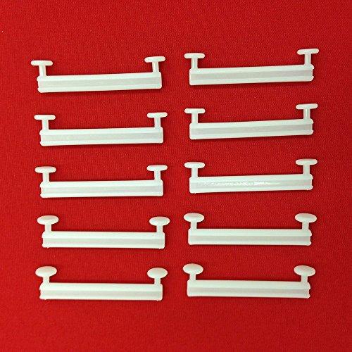 Easy-Shadow - 50 Stück Schlaufengleiter für 70 mm 70mm Schlaufen ohne Schlitz - Gleiter 7 cm 7m Innenlauf für Schlaufenschals / Schlaufenvorhang passend für Gardinenschienen Gardinenstange Vorhangschienen Gardinenbretter Gardinen Laufschienen Deckenleiste - weiß