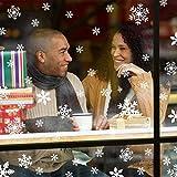 Fensteraufkleber Schneeflocke Weiß,Weihnachten Selbstklebend Fensterdeko,Schaufenster Deko Weihnachten,Schaufenster Deko Weihnachten,Christmas Decorations Window,Weihnachtsdeko Weiß(135pcs) - 2