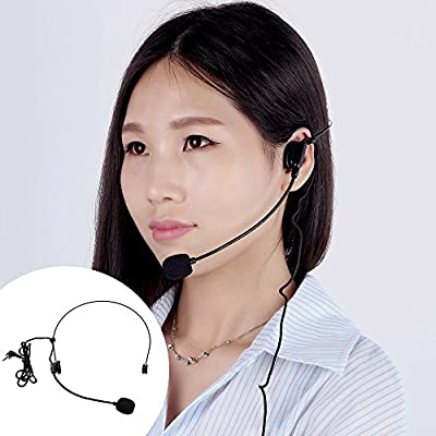 Andoer® Uni-Directional Head-mounted Headworn Headset Microphone Mic Flexible Wired Boom for Voice Amplifier Amp Loudspeaker
