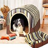 犬 ドーム型ベッド ペットベッド 犬猫用 ペットハウス ねこハウス 犬小屋 猫 テント ペットクッション 室内用 暖かい 洗える 折りたたみ ふんわり 肌触り 保温布団 ペット用品 大中小型犬/猫用