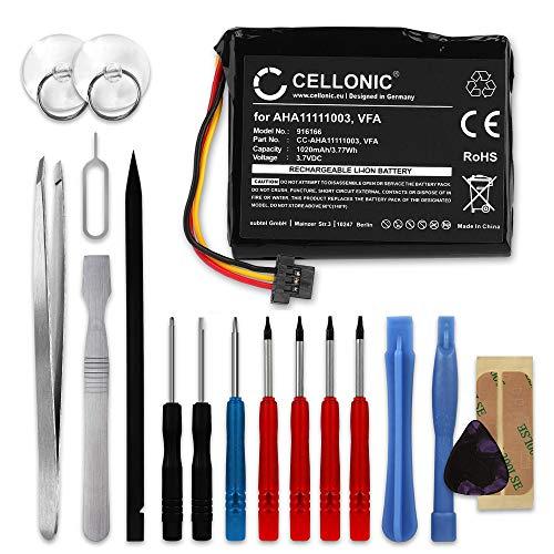 CELLONIC® GPS Ersatz Akku VFA VF6D AHA11111003 AHA11111006 kompatibel mit Tomtom GO 5000 Via 1605 Start 60 (4EN62) Navigationsgerät Ersatzakku 1020mAh + Werkzeug-Set Batterie