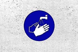 SchabloneHände waschen zweiteilig, Gebotszeichen M011